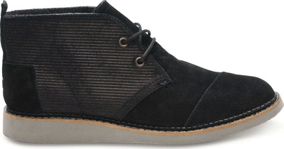 Black Embossed Suede Men's Mateo Chukka Boot
