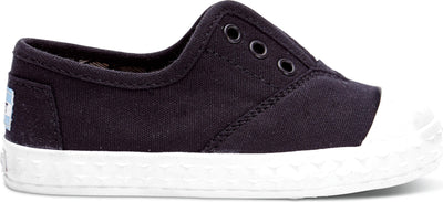 Black Canvas Tiny TOMS Zuma Sneaker