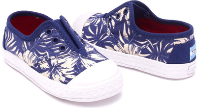 Blue Canvas Tiny Floral TOMS Zuma Sneaker