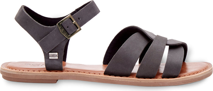 Black Leather Women's Zoe Sandal
