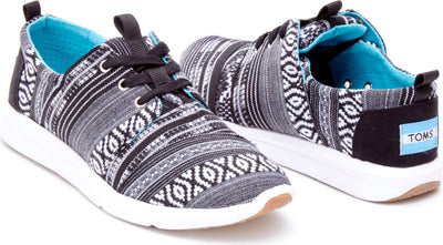 Black White Woven Women's Del Rey