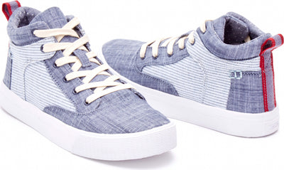 Chambray Stripe Women's Camila High Sneaker