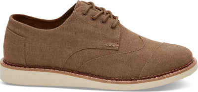 Brown Chambray Wingtip Men's Brogue