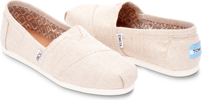Natural Metallic Burlap Women's Classics