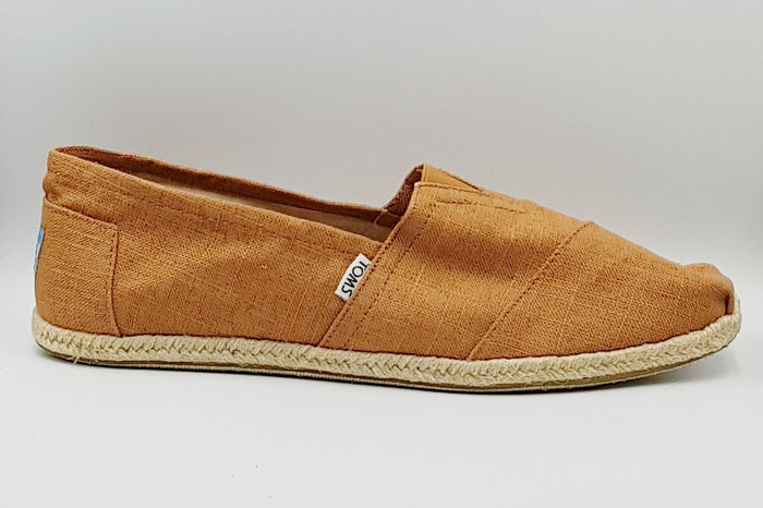Rust Linen Rope Sole Men's Alpargata