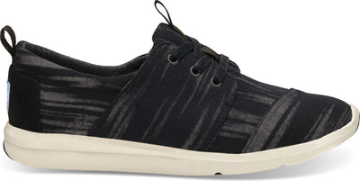 Black Brushed Woven Women's Del Rey Sneaker