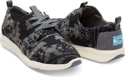 Grey Tribal Wool Women's Del Rey Sneaker