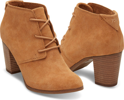 Wheat Suede Women's Lunata Lace-Up Bootie