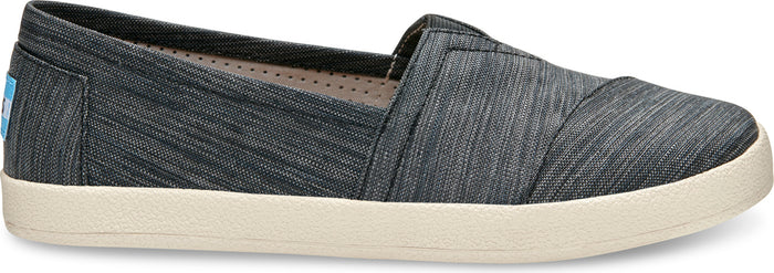 Black Stripe Nylon Women's Avalon Slip-Ons