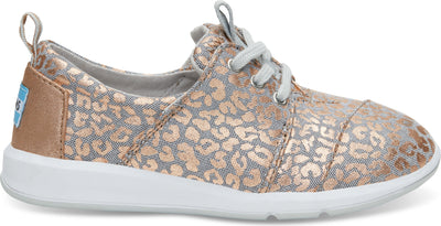 Grey Chambray/Cheetah Youth Del Rey Sneaker