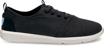 Black Linen Men's Del Rey Sneakers