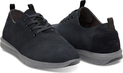 Black Embossed Waterproof Leather Men's Del Rey Sneaker