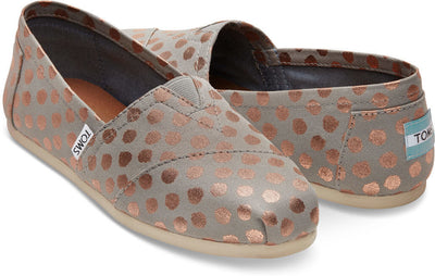 Drizzle Grey With Gold Foil Polka Dot Women's Classics