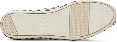 Natural Canvas With Navy Polka Dot Women's Classics