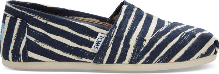 Navy Painted Stripe Women's Classics