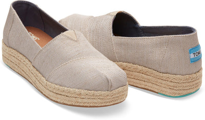 Natural Yarn Dye Women's Platform Alpargatas