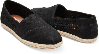 Black Nubuck Woven Panel Women's Classics