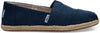 Navy Washed Canvas Womens Alpargata