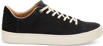 Black Nubuck Leather Men's Lenox Sneakers