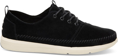 Black Suede Whip Stitch Men's Del Rey Sneakers