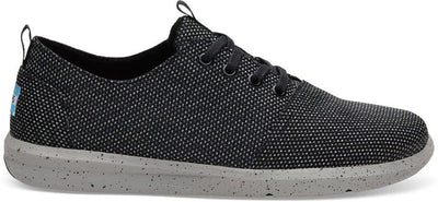 Black Grey Yarn-Dye Men's Del Rey Sneakers