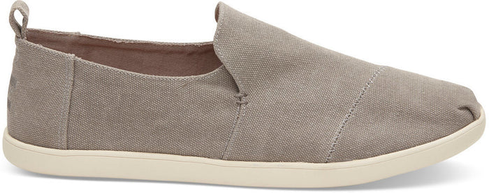 Drizzle Grey Washed Canvas Men's Deconstructed Classics