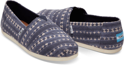 Navy Batik Stripe Men's Classics