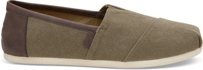 Olive Washed Canvas Men's Classics