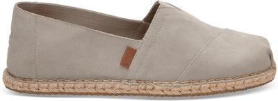 Drizzle Grey Suede Blanket Stitch Men's Classics