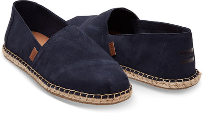 Navy Suede Blanket Stitch Men's Classics