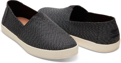 Black Grey Yarn-Dye Men's Avalon Slip-Ons