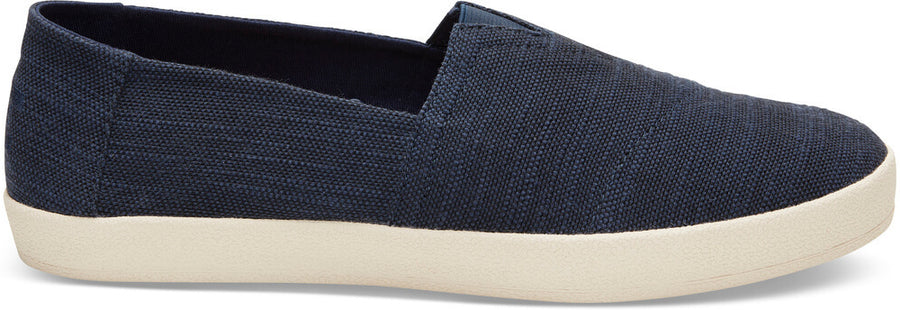 3cf144bb1b9 Navy Slubby Linen Men s Avalon Slip-Ons