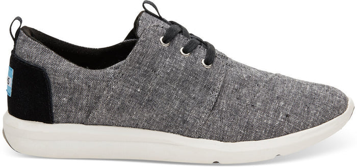 Black Slub Chambray Women's Del Rey Sneaker