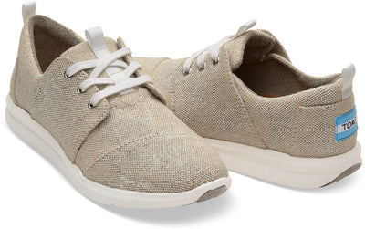 Natural Metallic Linen Women's Del Rey Sneaker