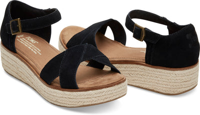 Black Suede Women's Harper Wedge