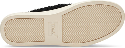 Black Suede Woven Panel Women's Lenox Sneaker