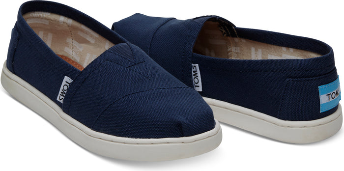 Navy Canvas Youth Alpargatas