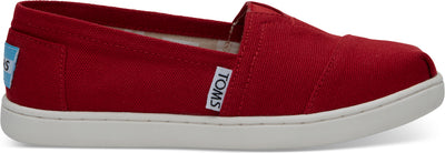 Red Canvas Youth Alpargatas