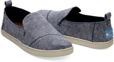 Navy Slub Chambray Women's Deconstructed Cupsole Alpargatas
