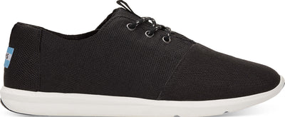 Black Poly Canvas Men's Del Rey Sneaker