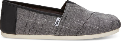 Black Textured Chambray/Trim Men's Classics