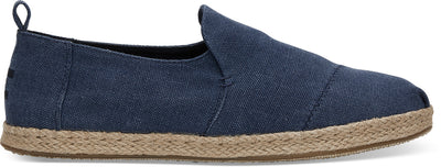 Navy Washed Canvas Mens Deconstructed Alpargata