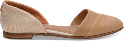 Honey Leather Metallic Woven Women's Jutti D'orsay