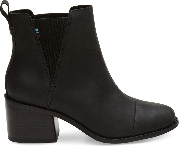 Black Leather Women's Esme Bootie