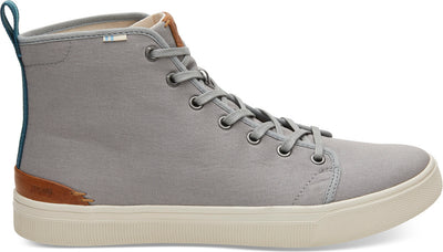 Neutral Grey Canvas Men's TRVL LITE High Sneakers