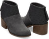 Forged Iron Grey Suede Felt Mix Women's Lacy Bootie