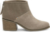 Desert Taupe Suede Felt Mix Women's Lacy Bootie