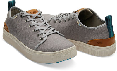 Drizzle Grey Heritage Canvas Men's TRVL LITE Low Sneakers