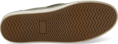 Black Forest And Lichen Green Heritage Canvas Mens Baja Slip-Ons