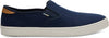 Navy Heritage Canvas Mens Baja Slip-Ons